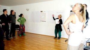 Vortrag von Cornelia über  die psychosomatischen Effekte der Asanapraxis
