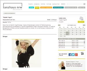Tripada Yoga im Tanzhaus NRW