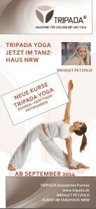 Tripada Yoga jetzt im Tanzhaus NRW mit Bridget Petzold